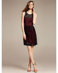 Banana Republic Eyelet Fit And Flare Dress Lyst