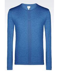 Armani - Gray T-Shirt In Melange Viscose Jersey for Men - Lyst