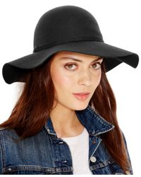 Collection XIIX - Black Simple Floppy Hat - Lyst