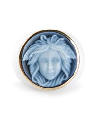 Amedeo - White Cameo Ring - Lyst