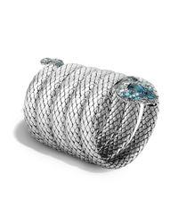 John Hardy | Cobra Multiple Coil Bracelet With Blue Topaz And Diamonds | Lyst
