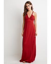 Forever 21 - Red Braided Strap Maxi Dress - Lyst
