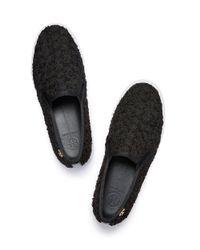 Tory Burch | Black Rosette Slip-on Sneaker | Lyst
