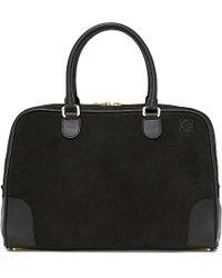 Loewe | Black Amazona 75 Extra-large Bag | Lyst