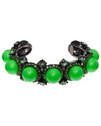 Lanvin - Green Bahia Cuff Bracelet - Lyst