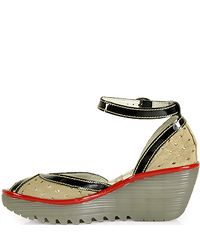 Fly London - Multicolor Ydel Perforated Peep Toe Wedge - Lyst
