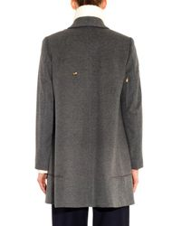 Undercover - Gray Wool-Blend Swing Coat - Lyst