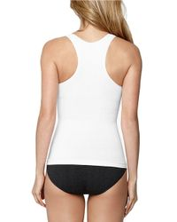 Yummie By Heather Thomson | White Seamlessly Shaped Racerback Tank | Lyst