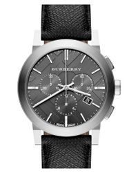Burberry | Metallic Check Stamped Round Chronograph Watch | Lyst