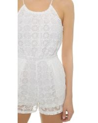 6 Shore Road By Pooja | Pacific Lace Romper - Moonlight White | Lyst