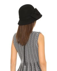 Kate Spade | Wool Felt Bow Hat - Black | Lyst