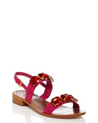 kate spade new york | Pink Bacau Sandals | Lyst