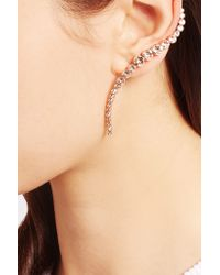 Ryan Storer - Pink Rose Gold-plated Swarovski Crystal Ear Cuff And Stud Earring - Lyst