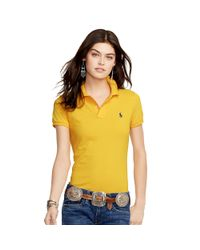 Polo Ralph Lauren | Metallic Skinny-fit Polo Shirt | Lyst