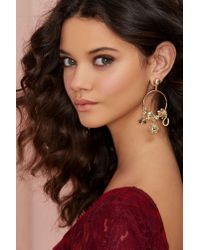 Nasty Gal | Metallic Such A Charmer Hoop Earrings | Lyst