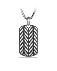 David Yurman | Metallic Modern Chevron Tag for Men | Lyst