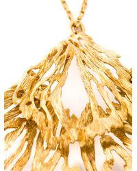 Alexander McQueen | Metallic Fishtail Pendant Necklace | Lyst