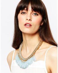 Pieces - Metallic Vallerie Multi Beaded Collar Necklace - Lyst