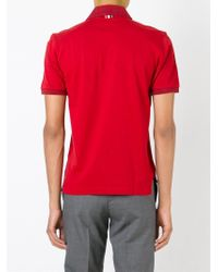 Thom Browne - Red Short Sleeved Polo Shirt for Men - Lyst
