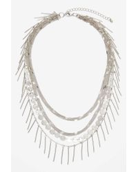 Nasty Gal | Gray Shayla Layered Necklace | Lyst