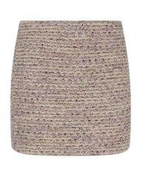 Alice + Olivia - Gray Elana Tweed Mini Skirt - Lyst