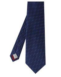 Eton of Sweden | Blue Scalloped Semi Circle Silk Tie for Men | Lyst