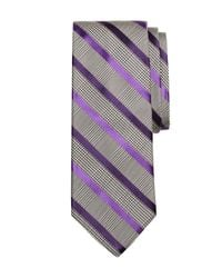 Brooks Brothers - Gray Tonal Houndstooth Stripe Tie for Men - Lyst