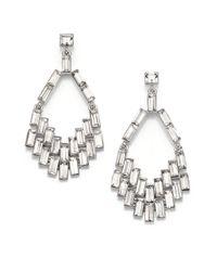 ABS By Allen Schwartz - Metallic Geometric Chandelier Earrings - Lyst