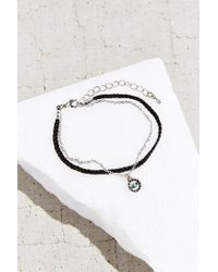 Urban Outfitters - Black Evil Eye Layered Bracelet - Lyst