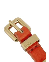 Marc By Marc Jacobs | Red Bright Coral Screw Embellished Leather Bracelet | Lyst