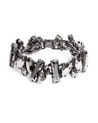 R.j. Graziano | Metallic Stone Chain Bracelet | Lyst