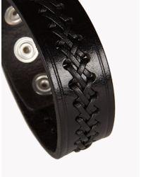 DSquared² | Black Weaving Armlet for Men | Lyst