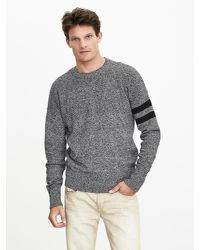 Banana Republic   Gray Stripe-sleeve Sweater Pullover for Men   Lyst