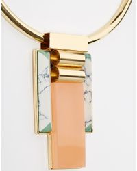 ASOS | Metallic Statement Stones Choker Necklace | Lyst