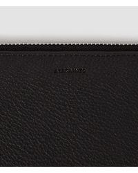 AllSaints - Black Club Zip Around Wallet - Lyst