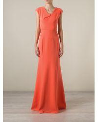 Roland Mouret - Orange 'Wistow' Evening Gown - Lyst