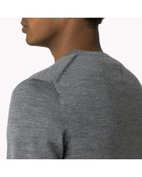 Tommy Hilfiger | Metallic Wool Crew Neck Sweater for Men | Lyst