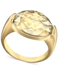 Swarovski | Metallic Gold-Tone Crystal Golden Shadow Ring | Lyst