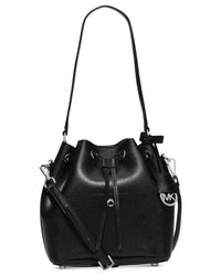 Michael Kors | Black Michael Greenwich Medium Bucket Bag | Lyst