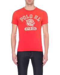 Ralph Lauren | Red Polo Cotton T-shirt for Men | Lyst