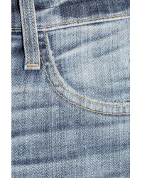 Current/Elliott - Blue The Boyfriend Rolled Denim Shorts - Lyst