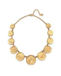 Ben-Amun | Metallic Station Coin Necklace | Lyst