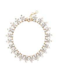 J.Crew - Metallic Crystal Leaves Necklace - Lyst