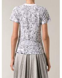 Comme des Garçons | Black Cartoon T-shirt | Lyst