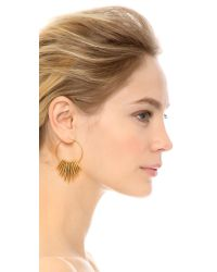 Michael Kors | Metallic Tribal Hoop Earrings - Gold | Lyst