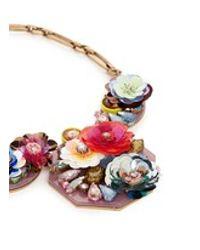J.Crew - Multicolor Blooming Sequin Paillette Bib Necklace - Lyst