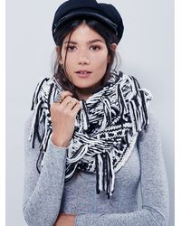 Free People | Black Womens Fringe Looped Cowl | Lyst