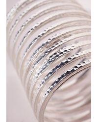 Missguided | Metallic Slinky Bracelet Silver | Lyst