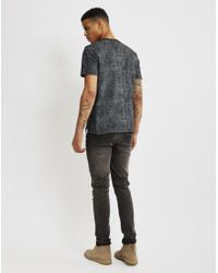 Nicce London - Black Cracked T-shirt for Men - Lyst