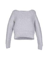 MM6 by Maison Martin Margiela | Gray Sweater | Lyst